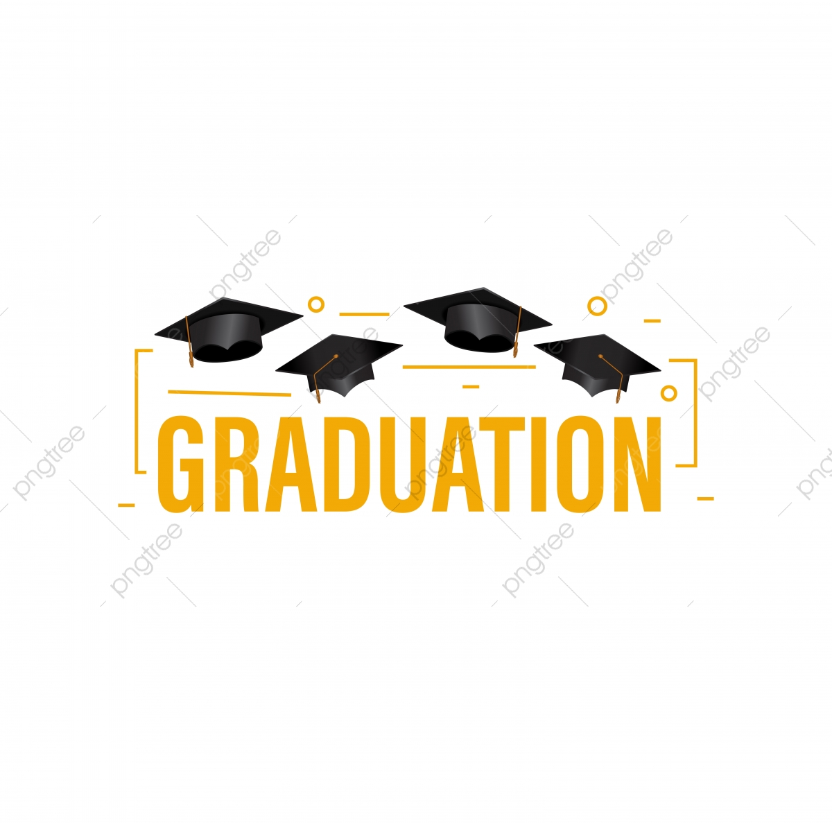Education Concept Graduation Party Banner With Cap And Outline D.
