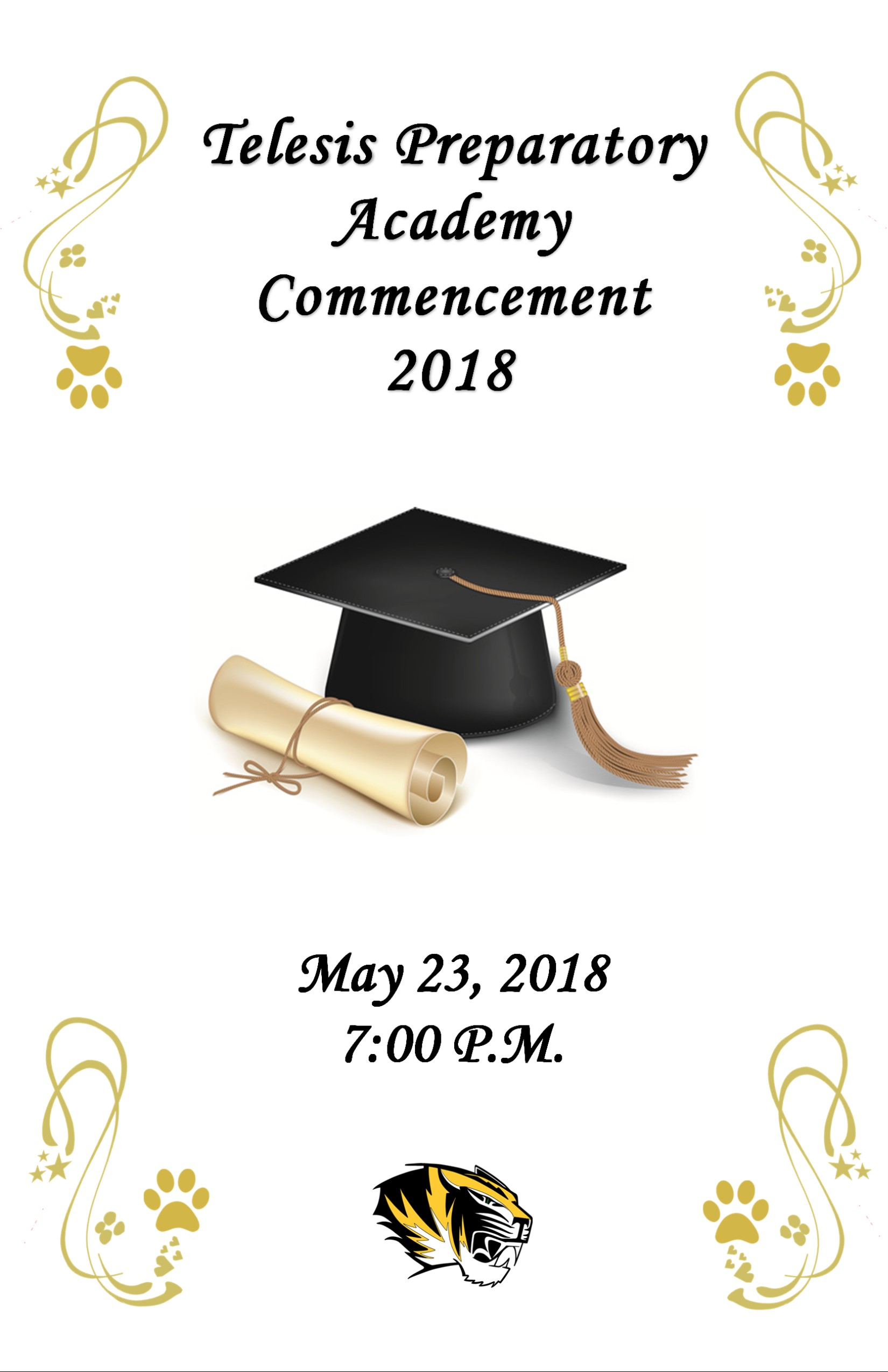 2018 Graduation Tonight at 7pm (downloadable program).