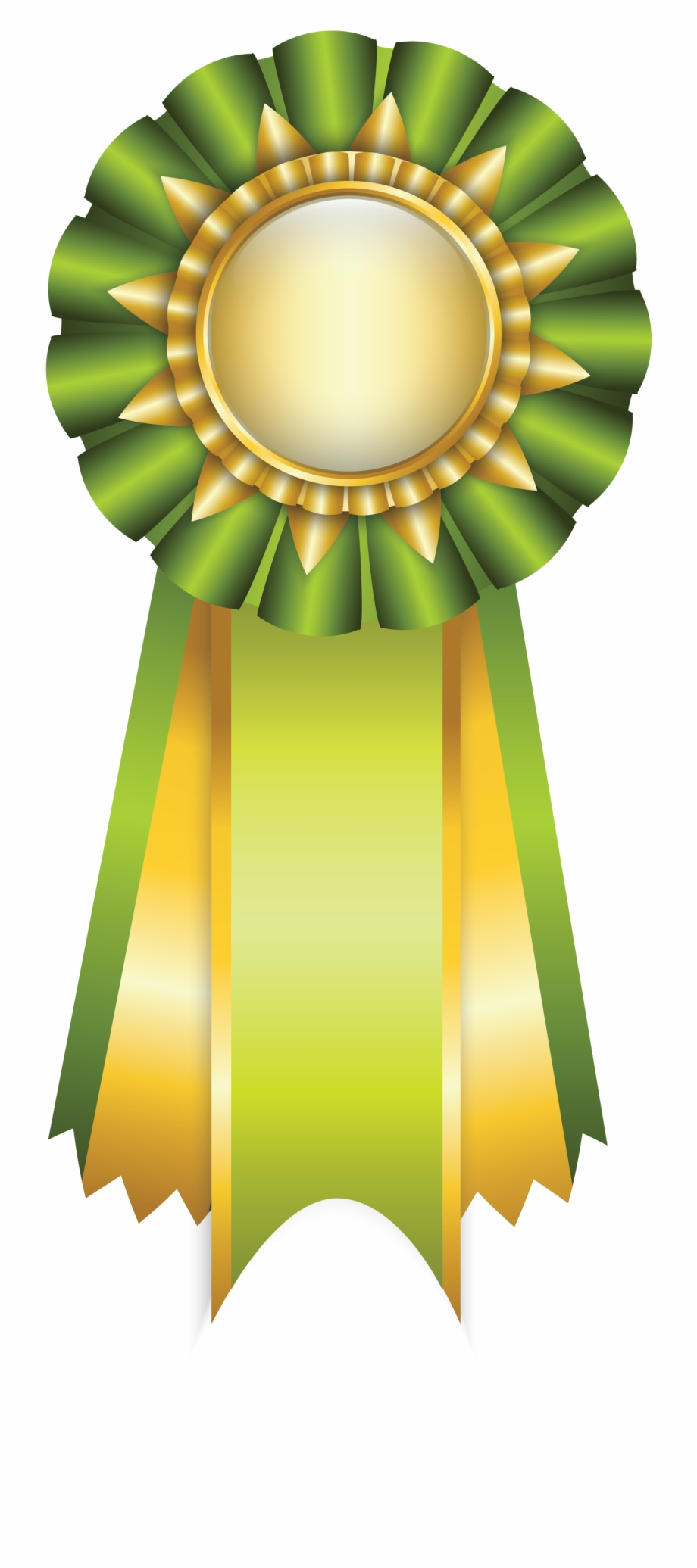 Green Rosette Ribbon Png Clipart Picture.