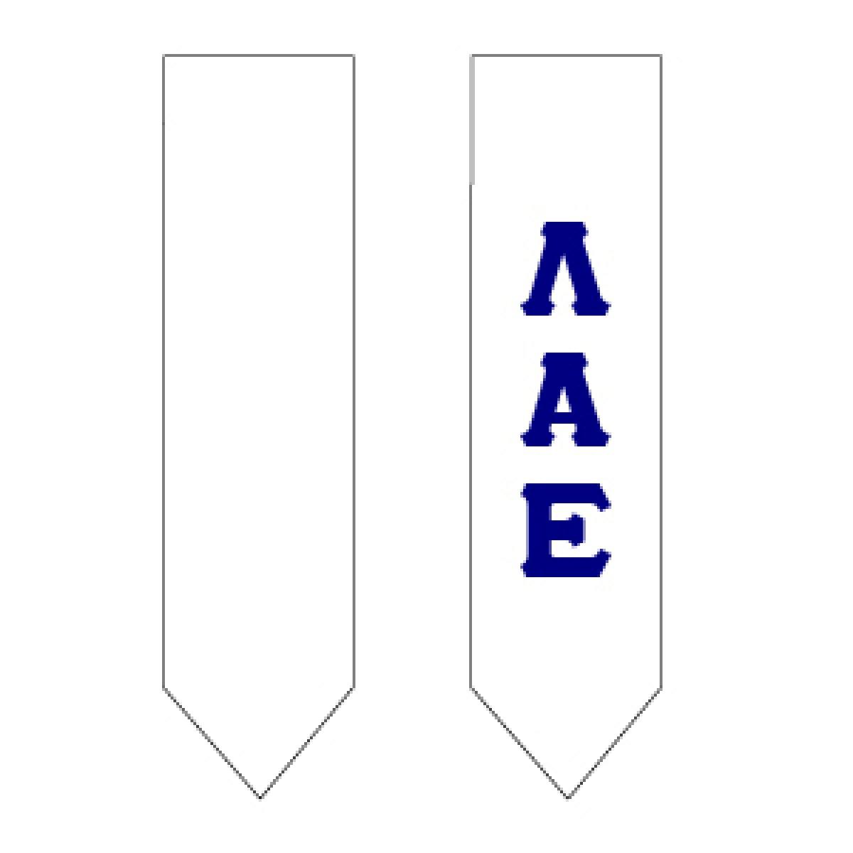 Lambda Alpha Epsilon Graduation Stole.