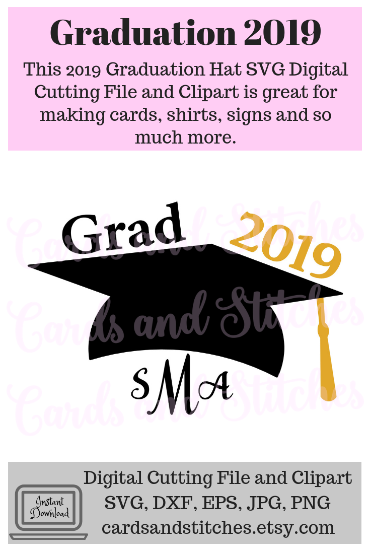 This Graduation Hat 2019 Monograms SVG Digital Cutting File is.