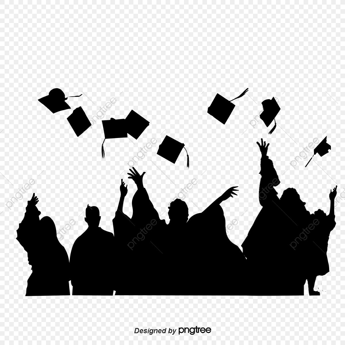 Photo Silhouette Of Graduation Cap, Silhouette Of Graduation Cap.
