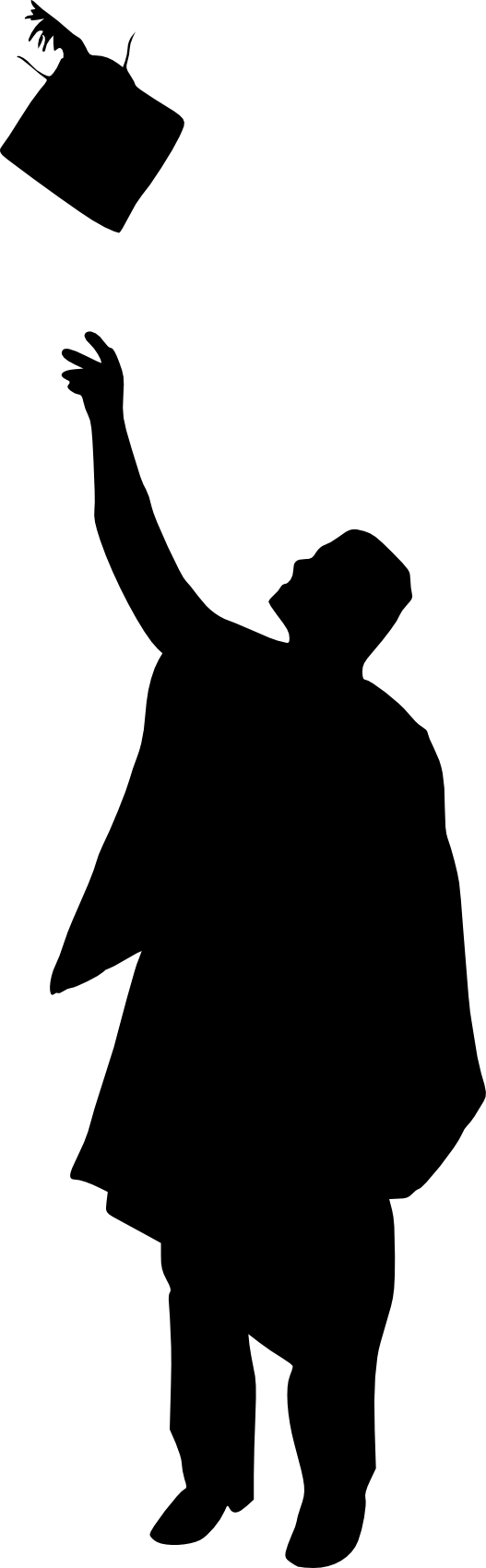 10 Graduation Silhouette (PNG Transparent).