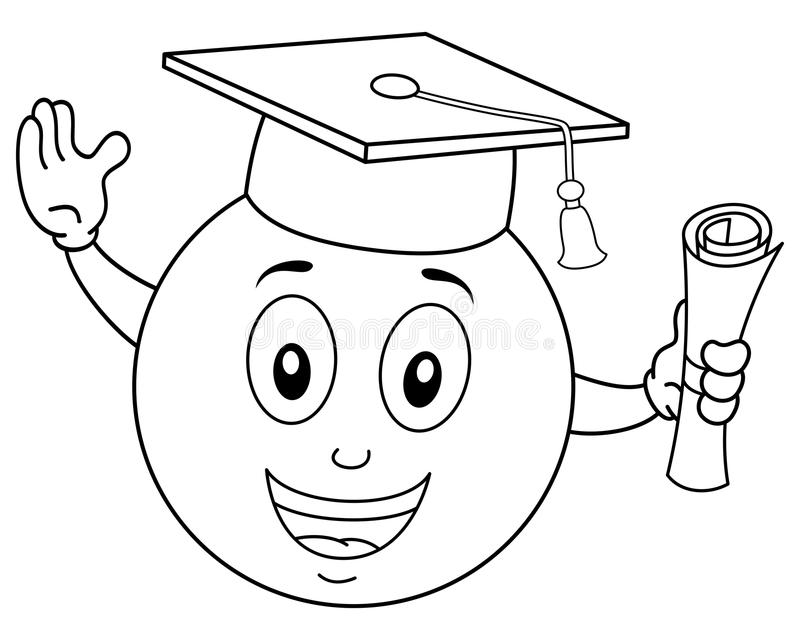 Smiley Face Diploma Stock Illustrations.