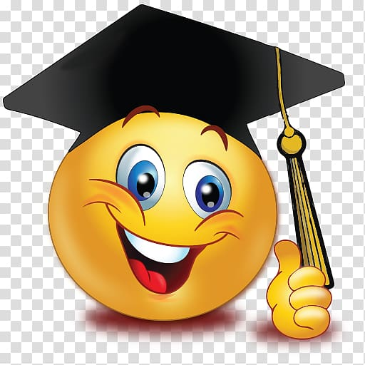 Graduation ceremony Emoticon Smiley Emoji Graduate.