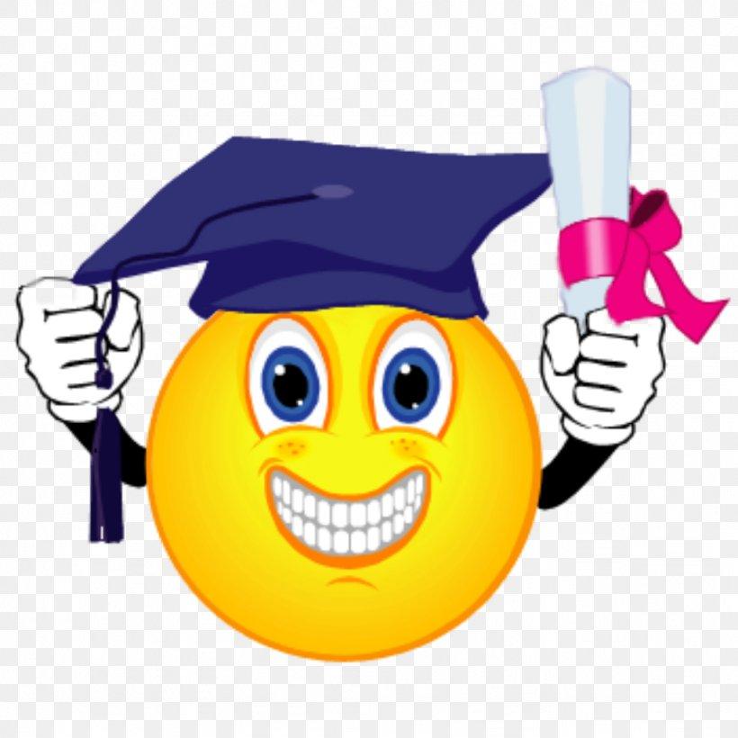 Smiley Graduation Ceremony Emoticon Clip Art, PNG.