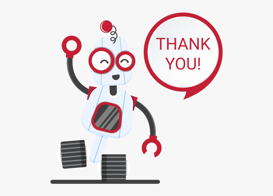Thank You Images Robot , Free Transparent Clipart.