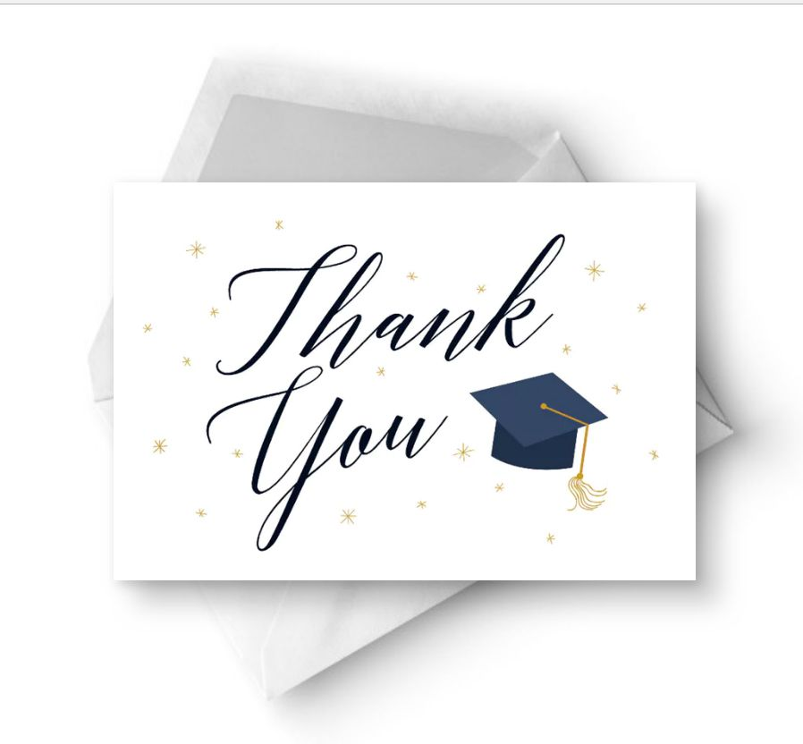 7 Free, Printable Graduation Thank You Cards.