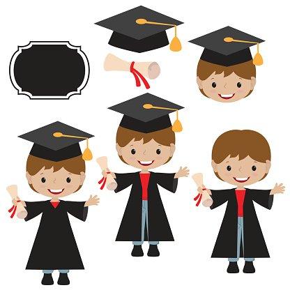 Graduation vector illustration Clipart Image.