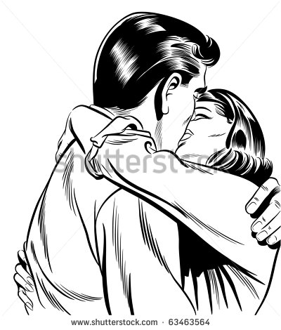 Greaser Couple Clipart.