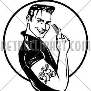 Greaser hair clipart.