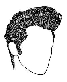 Greaser hair clipart.