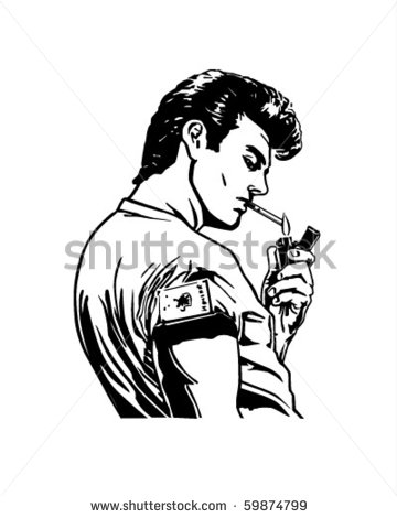 1950s Greaser Clipart.