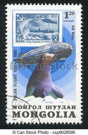 Stock Images of Graf Zeppelin and seal.