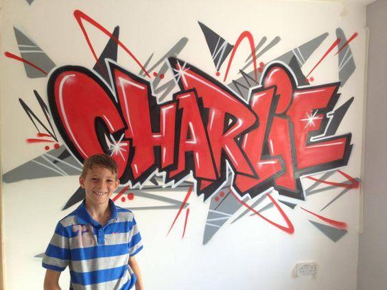 Graffiti clipart for boys bedroom.