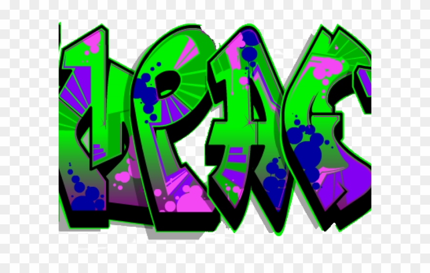Peace Sign Clipart Graffiti.