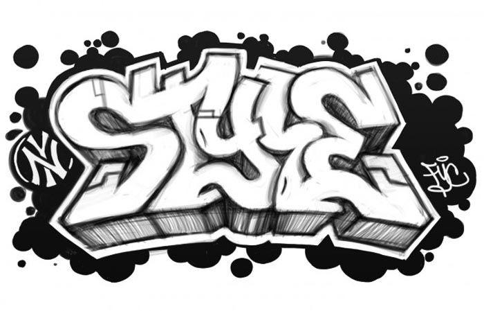 Graffiti Letter T Clipart.