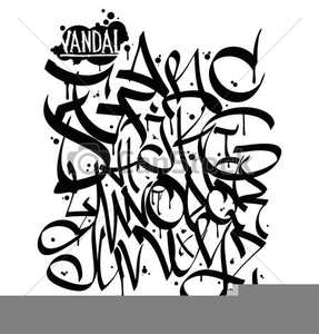 Graffiti Clipart Alphabet.