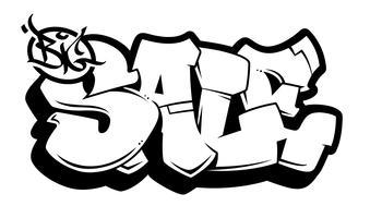 Graffiti Letters Free Vector Art.