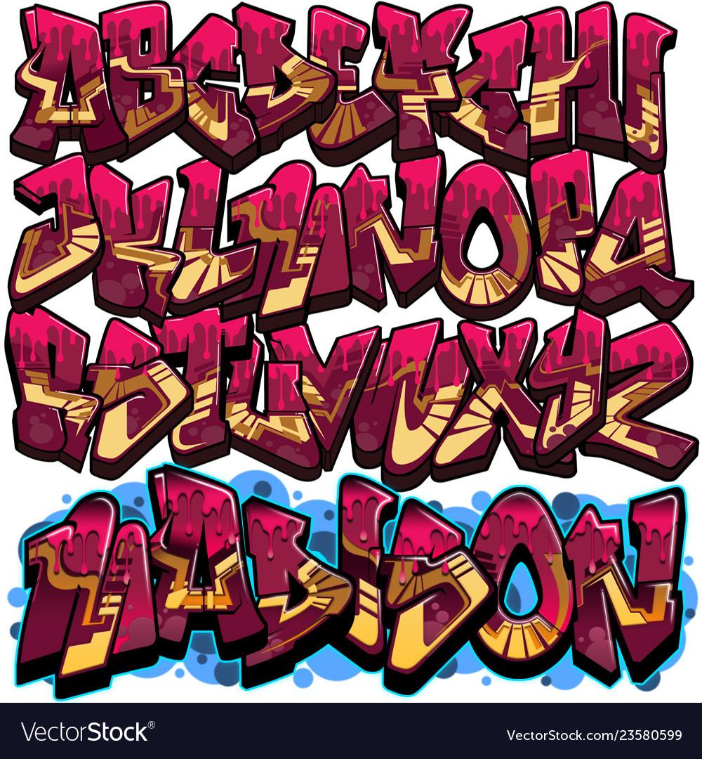 Graffiti font.