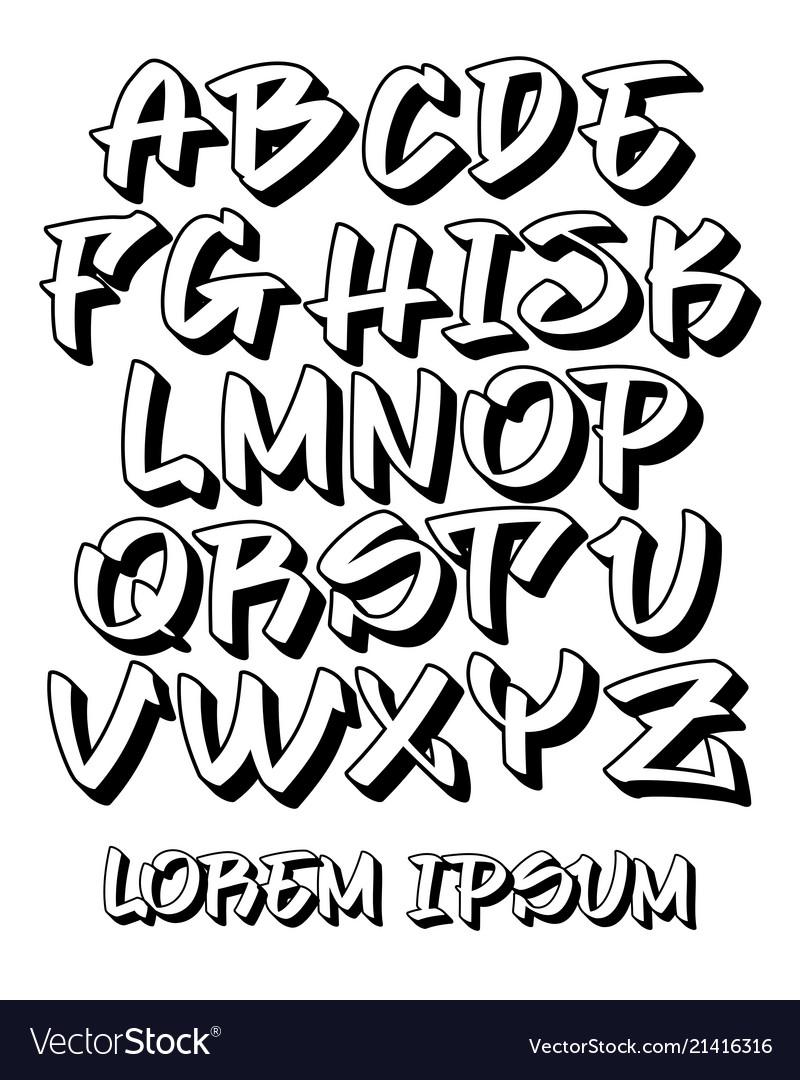 graffiti fonts.