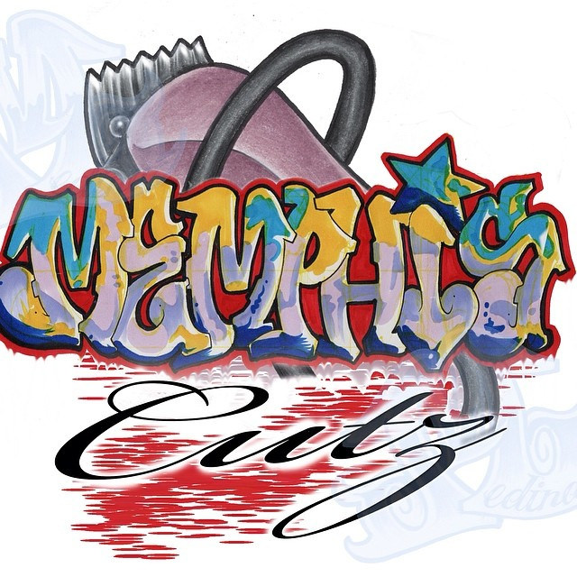 A custom logo design I did last night. #barber #graffiti #….