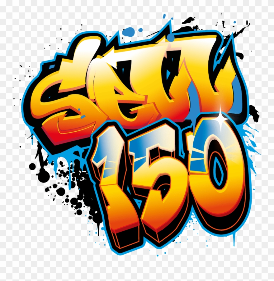 Design Graffiti Art Name With Character Or Logo Wall.