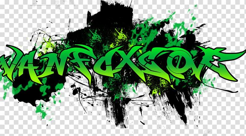 Green and black logo, Graffiti Logo, Graffiti transparent.