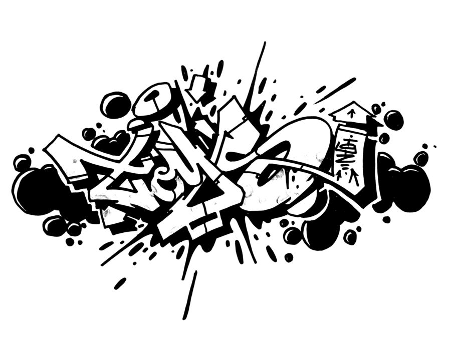 graffiti blackbook sketches clipart Black and white Graffiti.