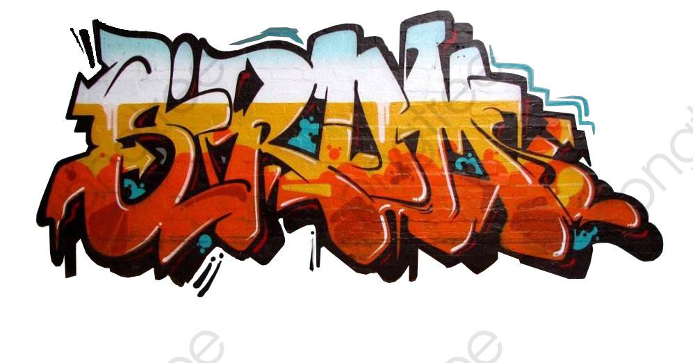 Colorful Graffiti On The Wall, Graffiti, Wall, Colorful PNG.