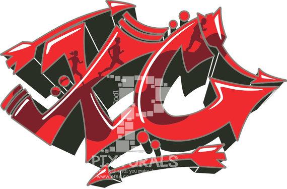 Cross Country Graffiti Design! PDF, EPS, jpeg, png, T.