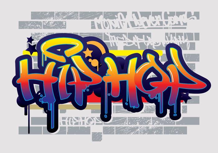 Hip Hop Graffiti Text Vector.