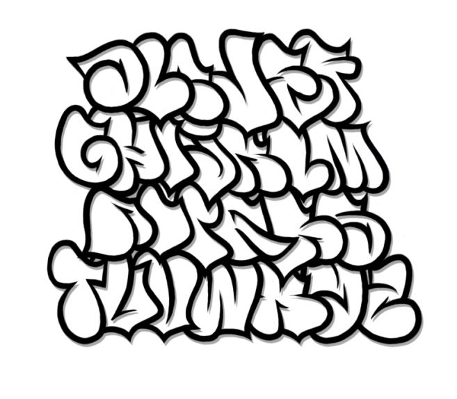 Graffiti Fonts on Clipart library.