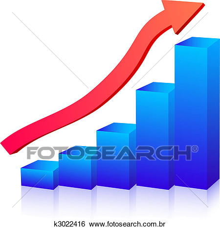 Crescimento negócio, gráfico Clipart.