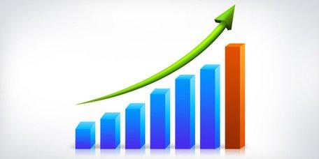 Imágenes clip art y gráficos vectoriales Gráfico de crecimiento.