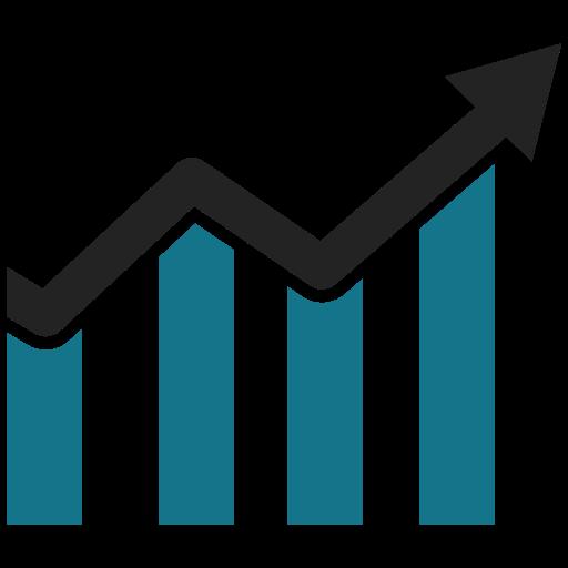 Grafis, grafik, grafik, bisnis, statistik, meningkatkan, panah.