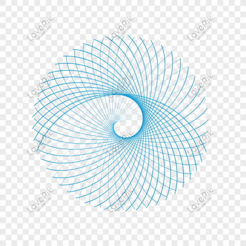 bahan grafis png garis spiral biru gambar unduh gratis_ Grafik.