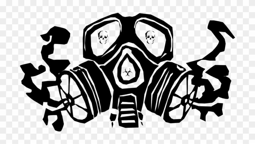 Drawn Gas Mask Masked.