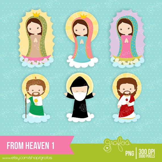 FROM HEAVEN 1 Digital Clipart Lady of Guadalupe Clipart by grafos.