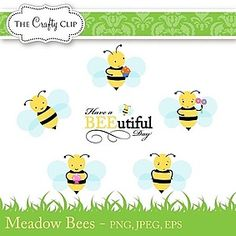 Spring Honey Bees Clipart — Over 10 Graphics.
