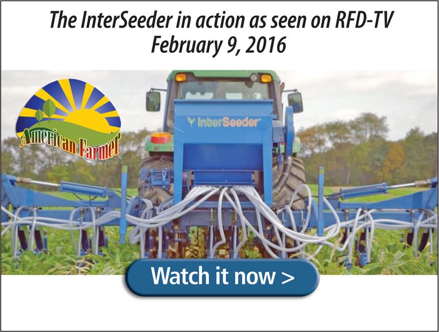 InterSeeder™ Cover Crop Planter, Fertilizer, Herbicide, Applicator.