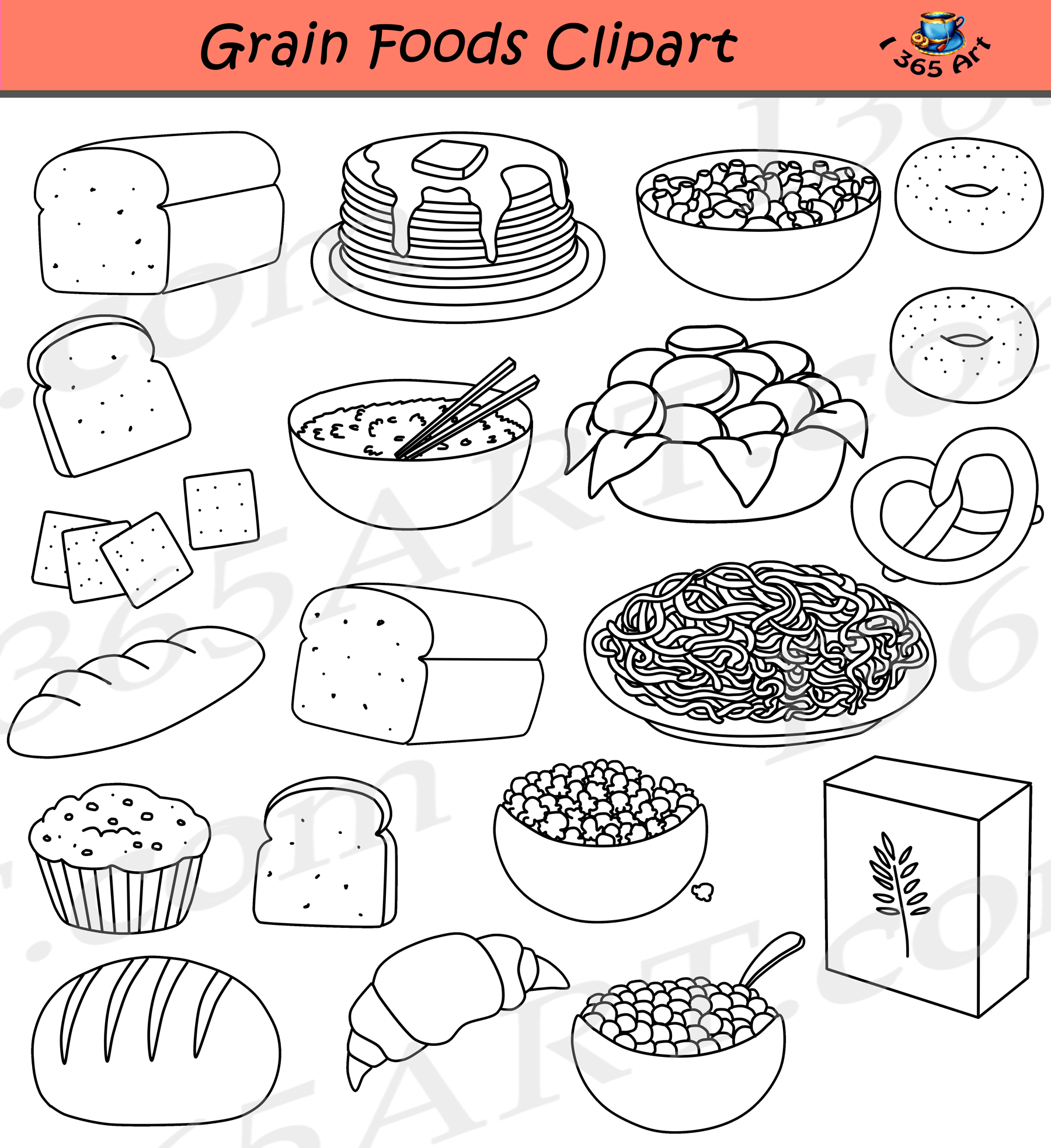 Grains Clipart Breads Food Group.