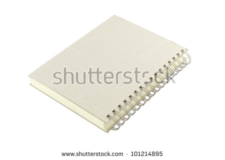 White Notebook Cover Stock Photos, Royalty.