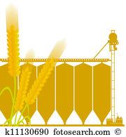 Grain elevator Clipart and Stock Illustrations. 14 grain elevator.