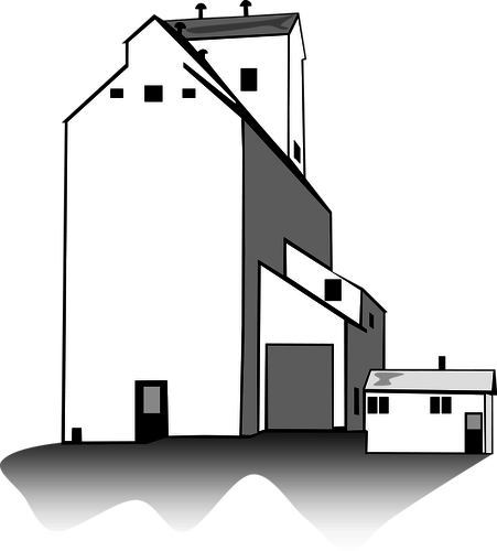The highest grain silo clipart #13