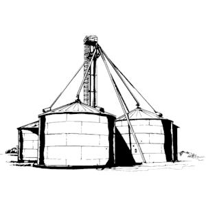 The highest grain silo clipart #16