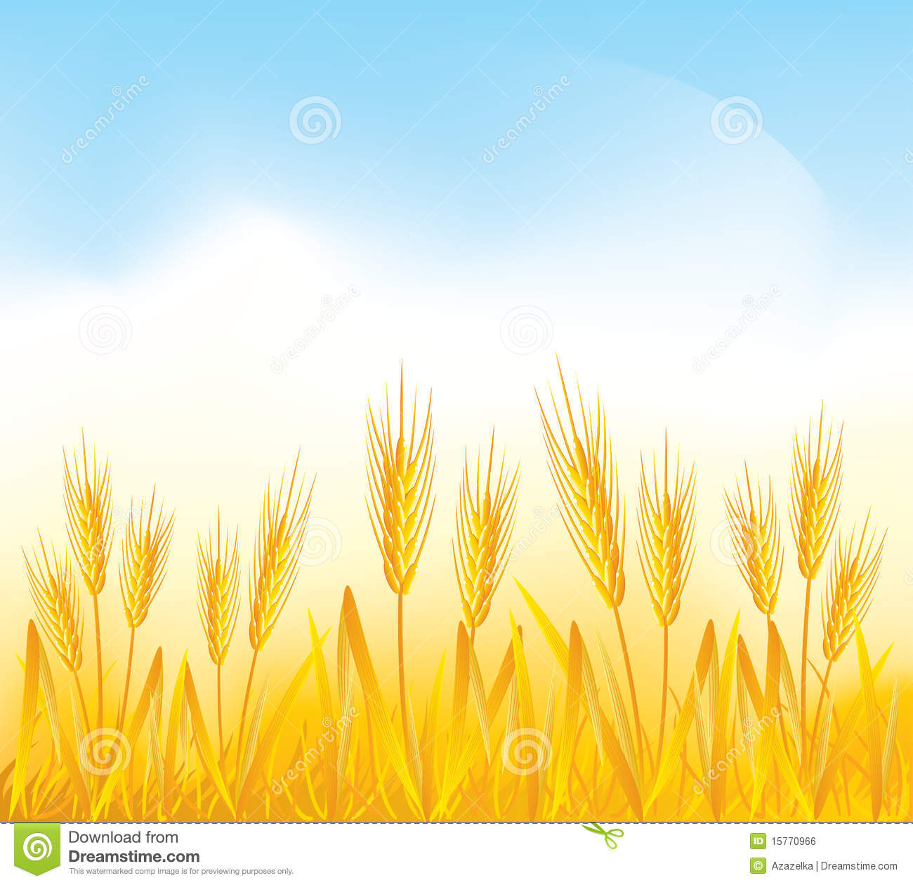 Clipart wheat field.