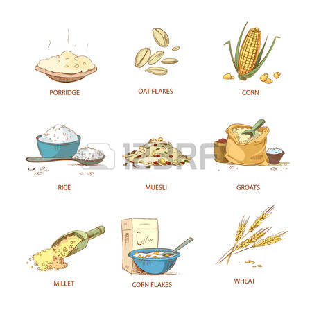 207 Muesli Flakes Stock Vector Illustration And Royalty Free.