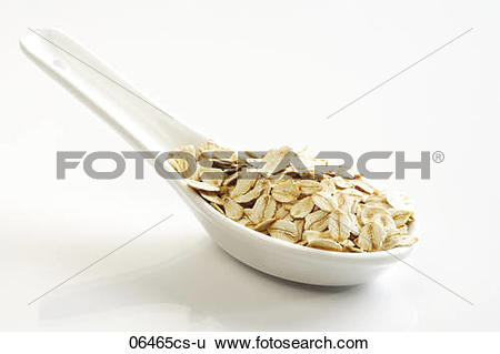Stock Images of Whole grain oat flakes 06465cs.
