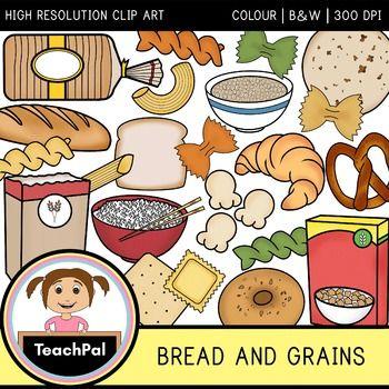 Bread and Grains Clip Art.